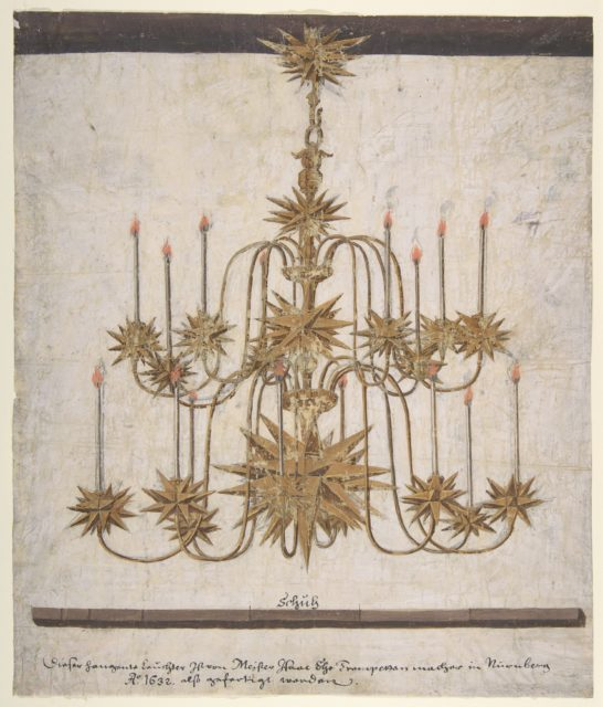Design for a Chandelier with Sixteen Candles