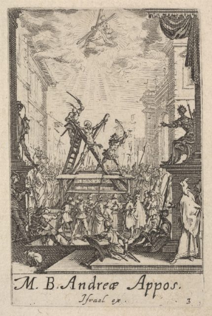 Martyrdom of Saint Andrew, from the series 'The little apostles' (Les petits apôtres)
