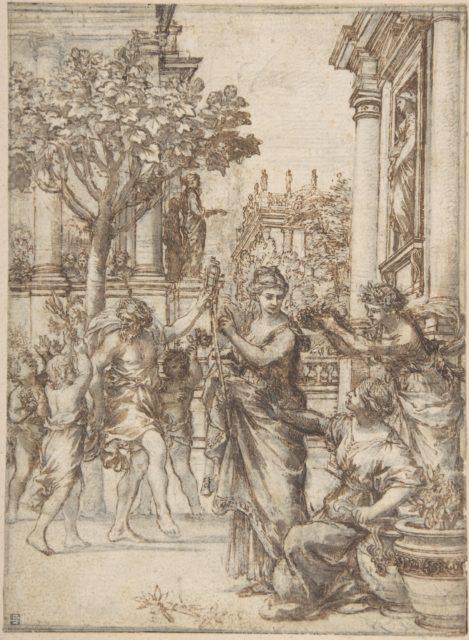 The Triumph of Nature Over Art (design for an engraving of 'De Florum Cultura')