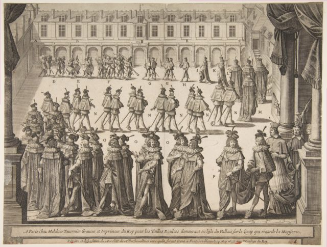 Order of the Chevaliers Marching at Fontainebleau in May 1633