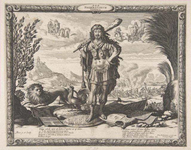 Declaration of War on Spain by Louis XIII: The King as Hercules