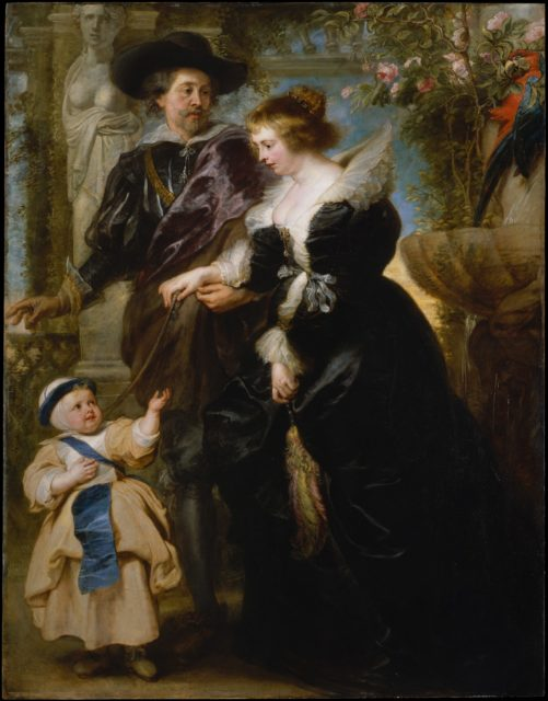 Rubens, His Wife Helena Fourment (1614–1673), and Their Son Frans (1633–1678)