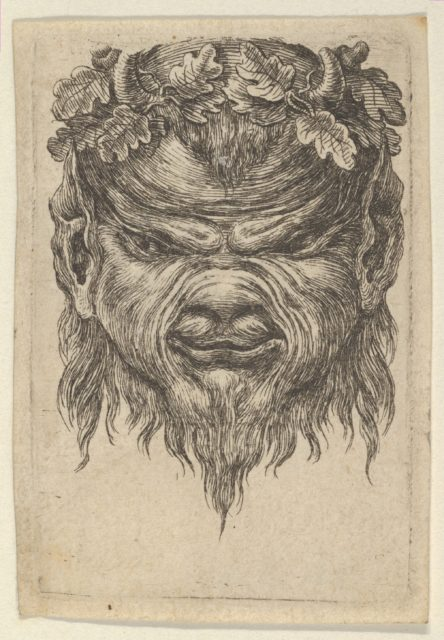 Satyr Mask with an Indented Snout and a Wreath of Oak Leaves, from Divers Masques