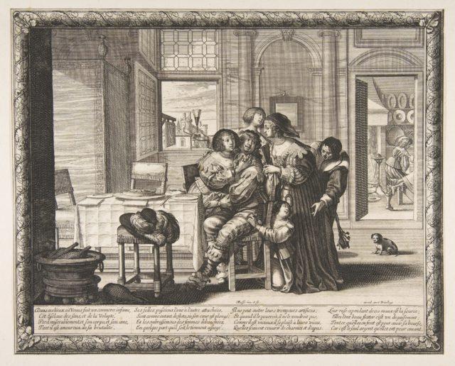 The Prodigal Son in a House of Ill Repute (L'Enfant prodigue dans une maison de débauche, version couvert)
