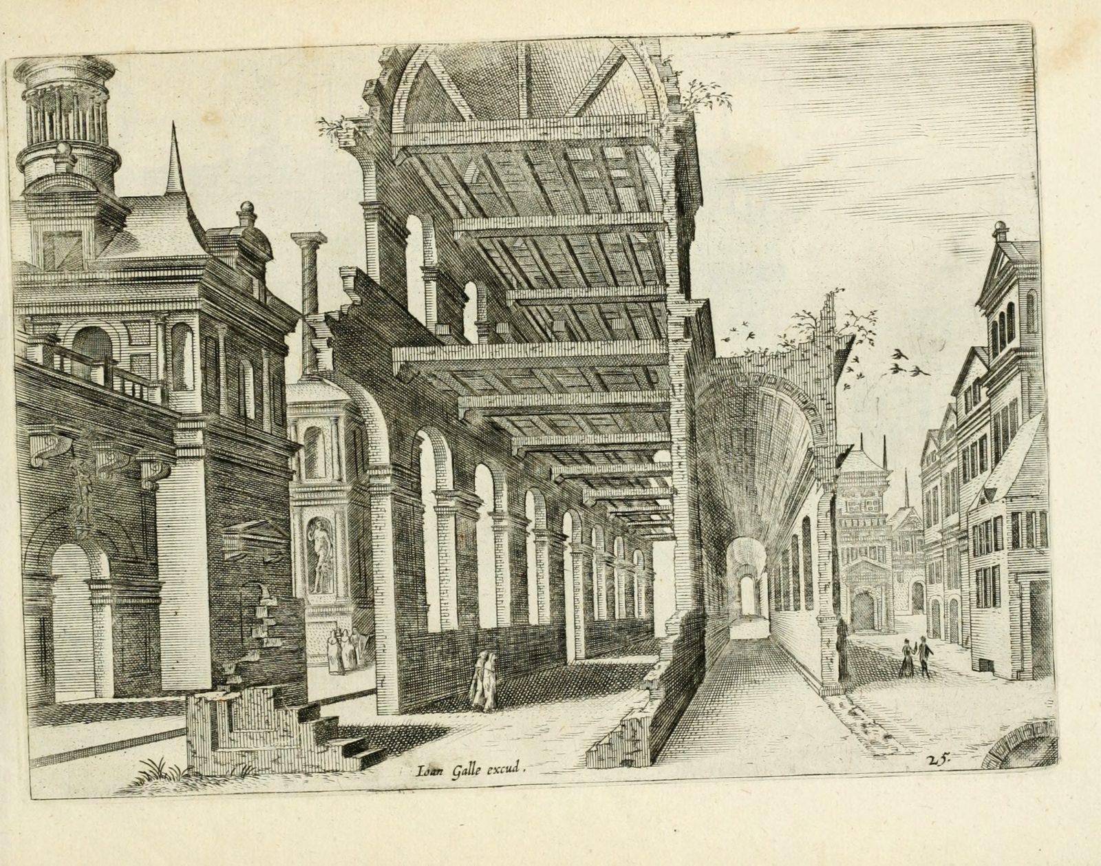 Variae architecturae formae by Vredeman de Vries, Hans, 1527-ca. 1604; Doetecam, Jan van; Doetechum, Lucas van, 16th century