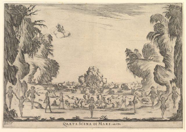 Fourth scene, the sea, from 'The marriage of the gods' (Le nozze degli Dei)