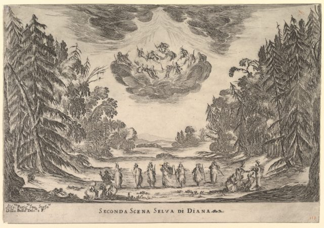Second Scene, in Diana's forest, from 'The marriage of the gods' (Le nozze degli Dei)