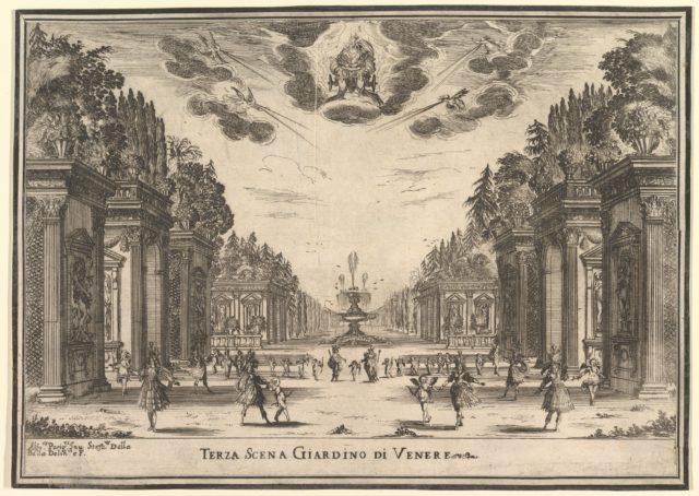 Third scene, the garden of Venus, from 'The marriage of the gods' (Le nozze degli Dei)