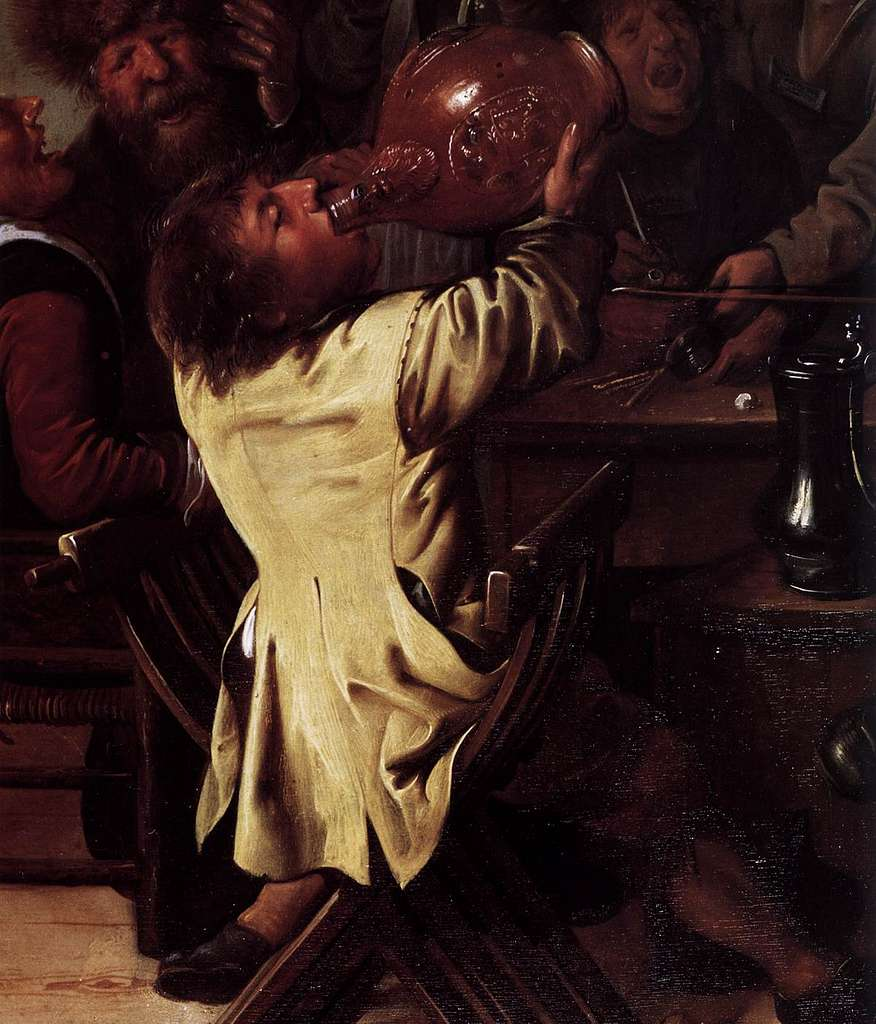 Jan Miense Molenaer - The King Drinks (detail) - WGA16100