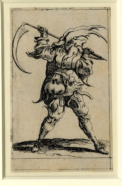 Set of twelve grotesque figures representing the twelve months of the year 1638 Denis Boutemie f