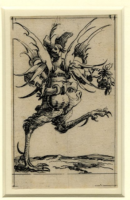 Set of twelve grotesque figures representing the twelve months of the year 1638 Denis Boutemie b