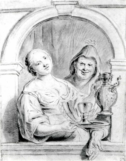 The Young Woman and the Jester