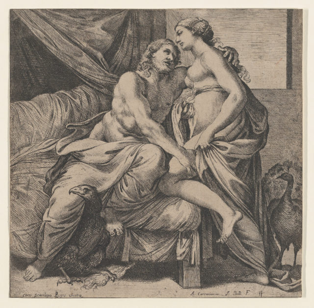 Jupiter embracing Juno, from the Farnese Palace