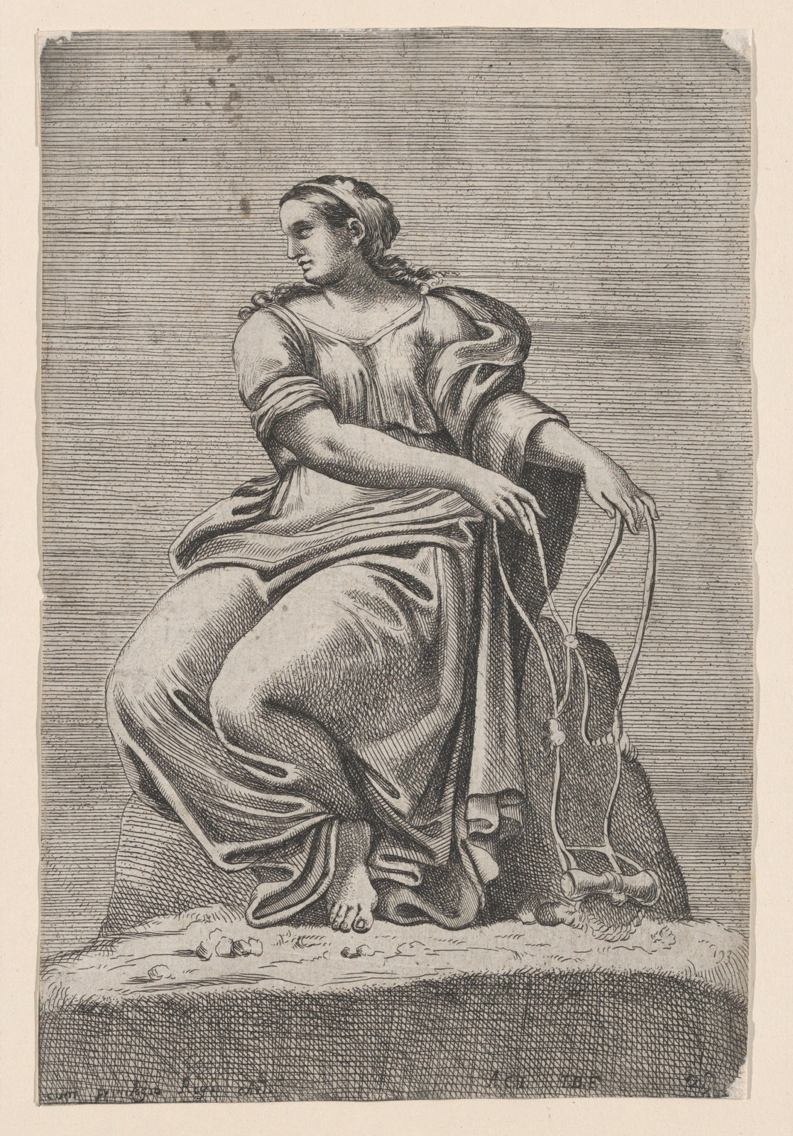 Seated Figure of Justice, from Farnese Palace, after Annibale and Agostino Carracci