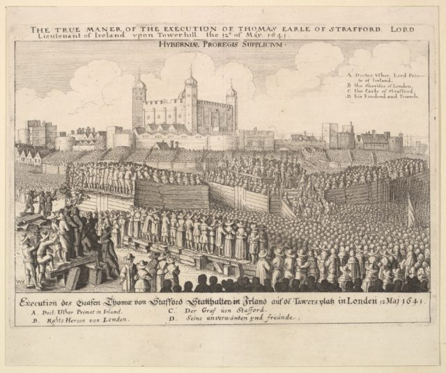 The true maner [manner] of the execution of Thomas Earle of Strafford