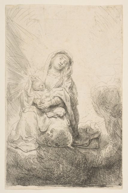 The Virgin and Child in the Clouds