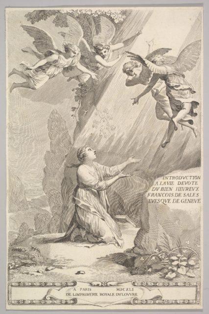 Title page for François de Sales, Introduction à la vie dévote