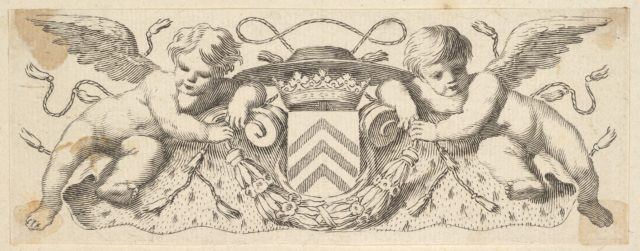 Two Cherubs with the Arms of Cardinal Richelieu