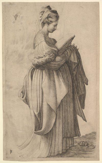 Female Figure holding a Cushion