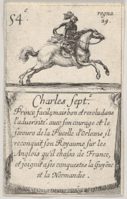 Charles Sept.-e / Prince facile..., from 'Game of the Kings of France' (Jeu des Rois de France)