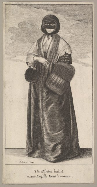 English Lady in Winter Costume (The Winter habit of ane English Gentlewoman)