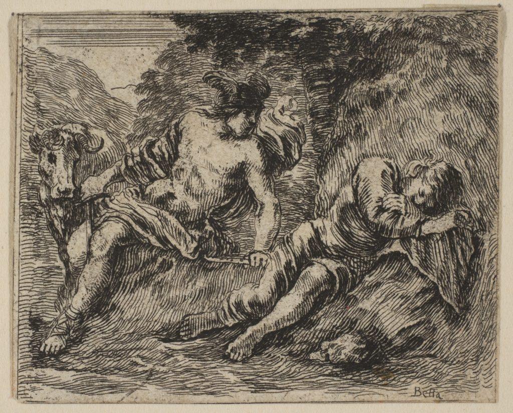 Mercury and Argus, from 'Game of Mythology' (Jeu de la Mythologie)