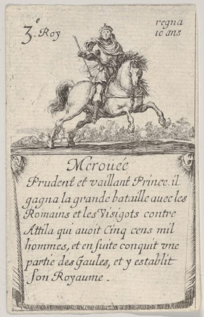Meroüée / Prudent et vaillant..., from 'Game of the Kings of France' (Jeu des Rois de France)