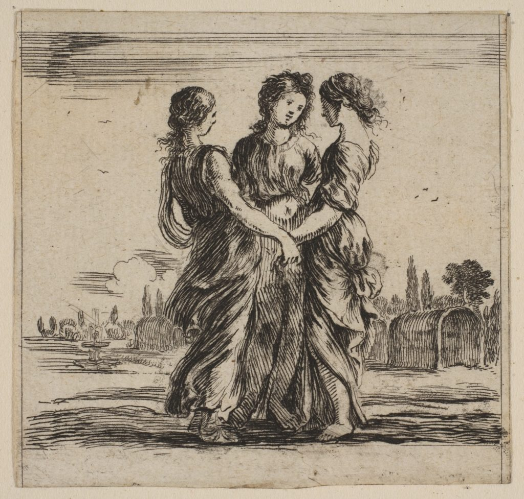 The three graces, from 'Game of Mythology' (Jeu de la Mythologie)