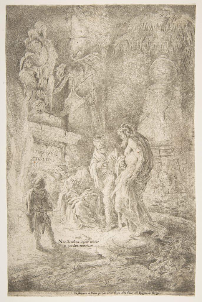 'Temporalis Aeternitas', four scholars amongst ruins