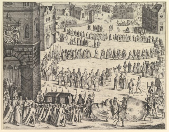 Funeral of General Johan Baptiste von Taxis