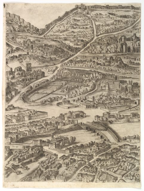 Plan of the City of Rome. Part 5 with the Baths of Caracalla, the Santa Sabina and Part of the Tiber