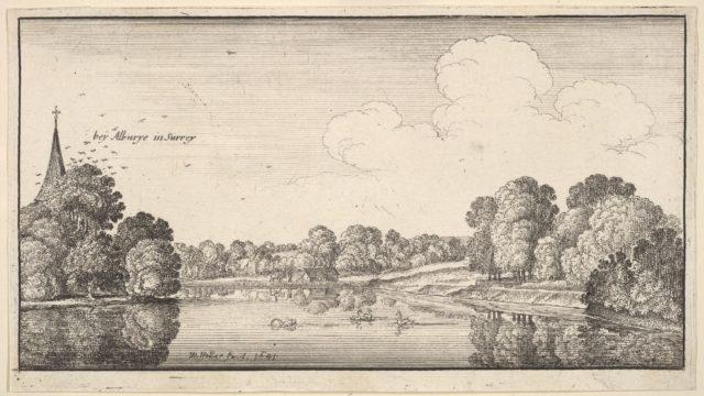 Views of countryside near Albury, Surrey