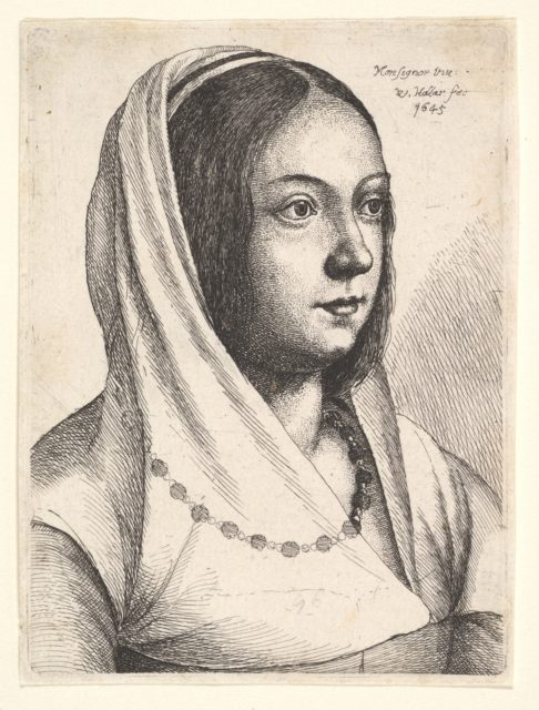 Young woman with a scarf on her head, after Bonsignori