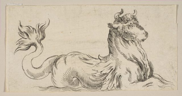 Plate 9: Marine Bull, from 'Various figures and doodles' (Diverses figures et griffonnemens)
