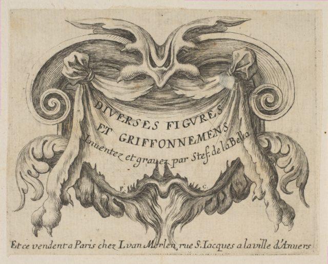 Title page, from 'Various figures and doodles' (Diverses figures et griffonnemens)
