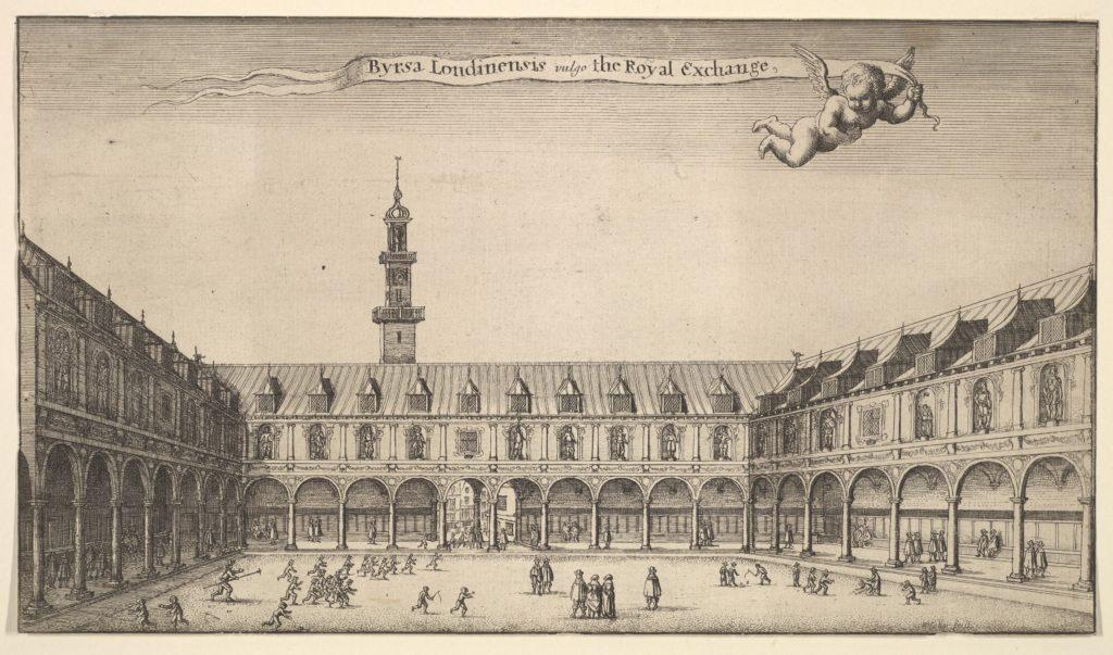 Byrsa Londinensis vulgo the Royal Exchange (Royal Exchange, London)