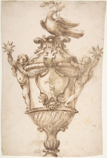Design for a Covered Vase with the Arms of the Aldobrandini and Pamphilj Families