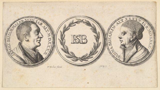 Medallions with portraits of Sebald Beham and Anna Beham