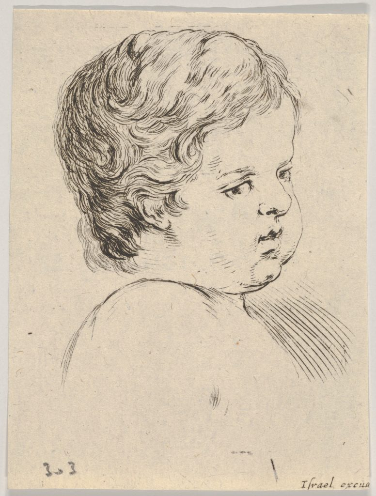 Plate 12: head of a child, from 'The Book for Learning to Draw' (Livre pour apprendre à dessiner)