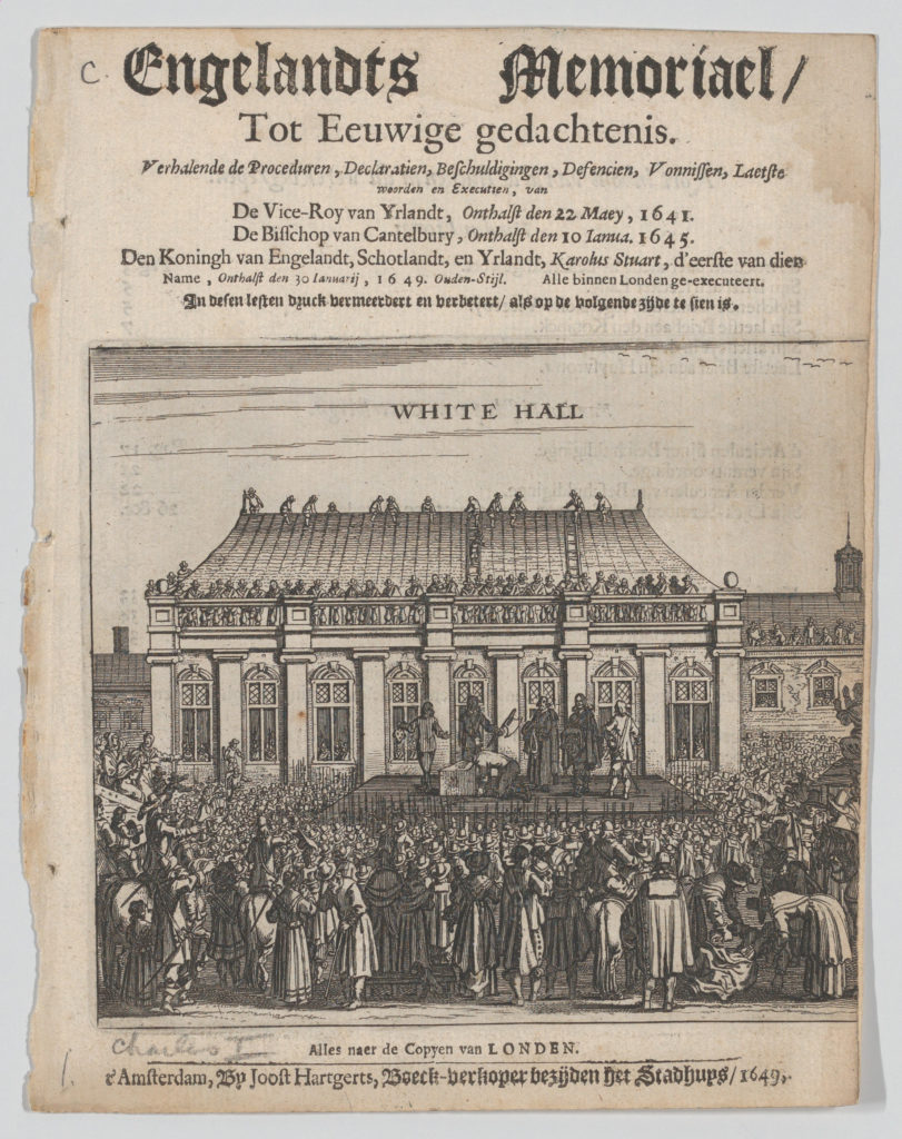 The Execution of King Charles I (Title page: Engelandts Memoriael)