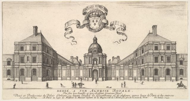 The Palais d'Orléans, from 'Various views of remarkable places in Italy and France' (Diverses vues d'endroits remarquables d'Italie et de France)