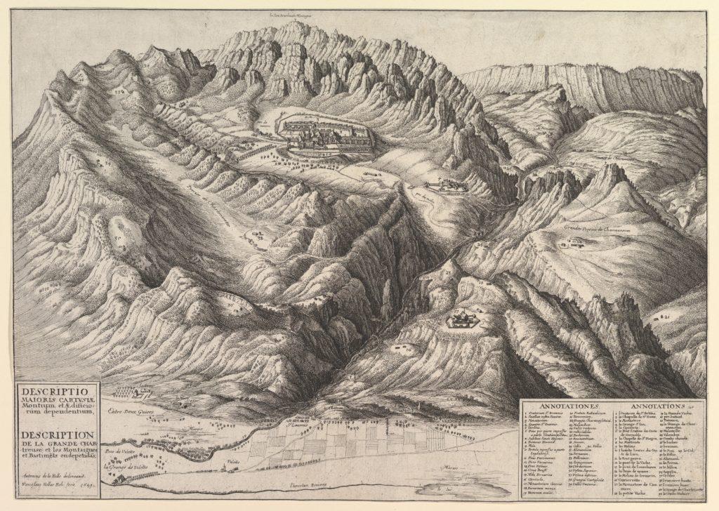 View of La Grande Chartreuse in the French Alps / Descriptio Maioris Cartusiæ Montium, et Ædificiorum dependentium