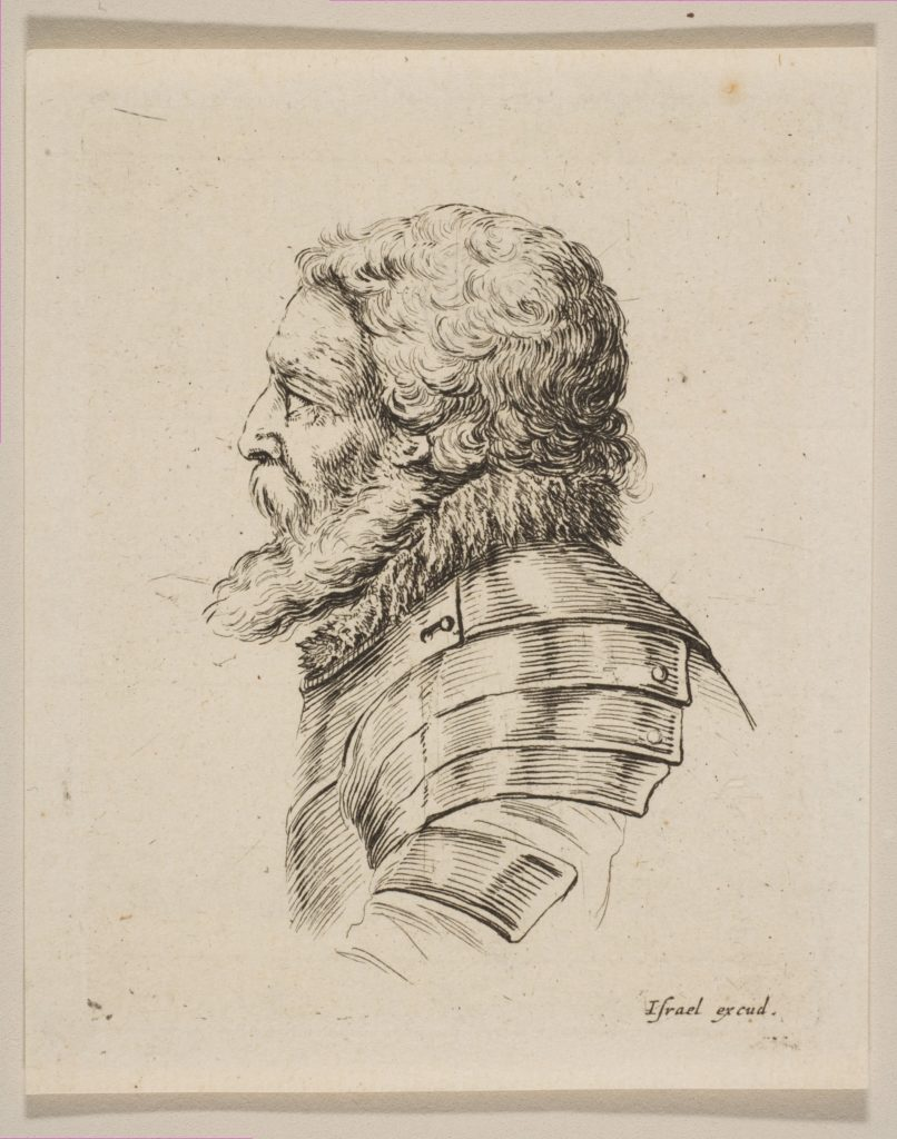 Bust of a Soldier in Profile, from 'Various heads and figures' (Diverses tétes et figures)
