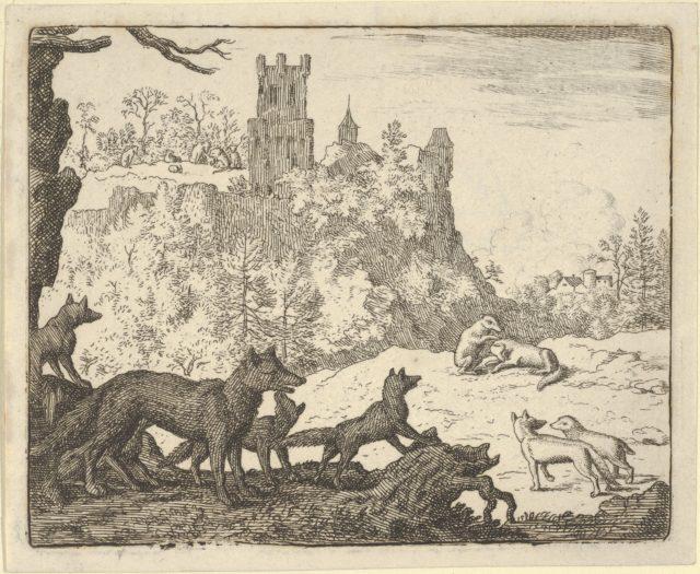 Renard Leaves with the badger from Hendrick van Alcmar's Renard The Fox
