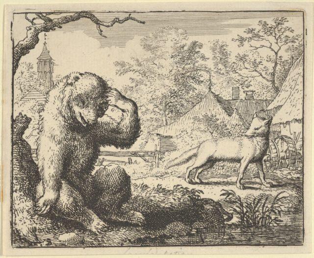 Renard Makes Fun of the Bear from Hendrick van Alcmar's Renard The Fox
