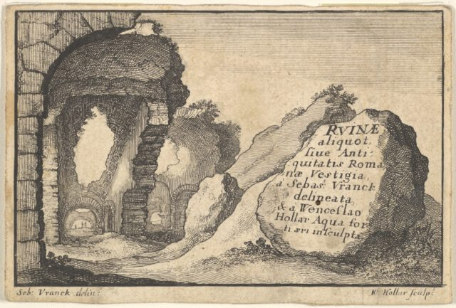 Roman Ruins, second version of title-page