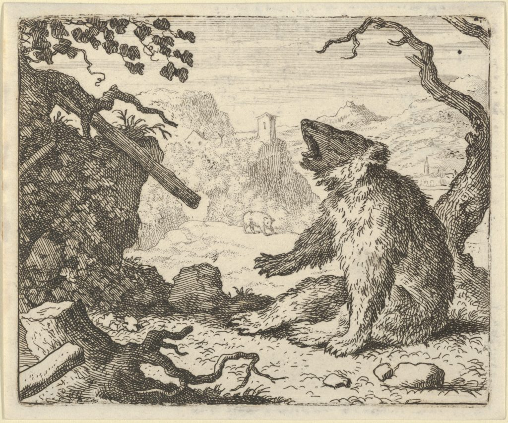 The Bear Calls Renard to Appear Before the Council of the Animals from Hendrick van Alcmar's Renard The Fox