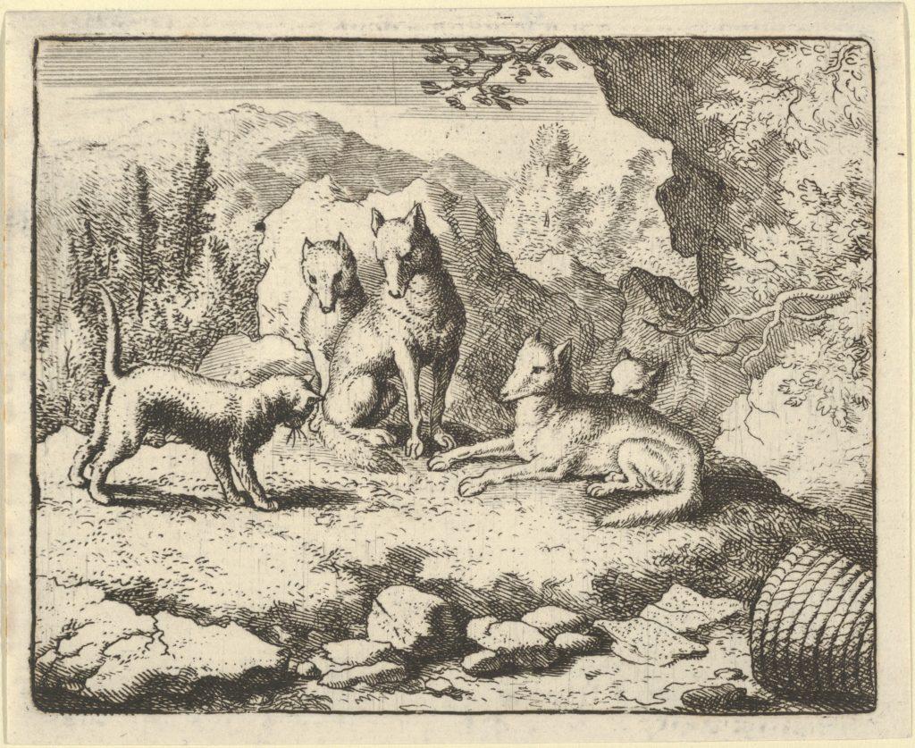 The Cat Calls Renard to Appear before the Tribunal from Hendrick van Alcmar's Renard The Fox
