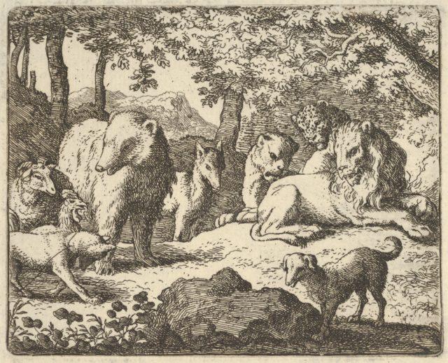 The Lion Delays Renard's Execution for a Final Interrogation from Hendrick van Alcmar's Renard The Fox