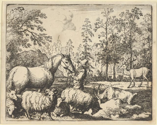 The Story of the Horse Who Wants Revenge on the Stag from Hendrick van Alcmar's Renard The Fox